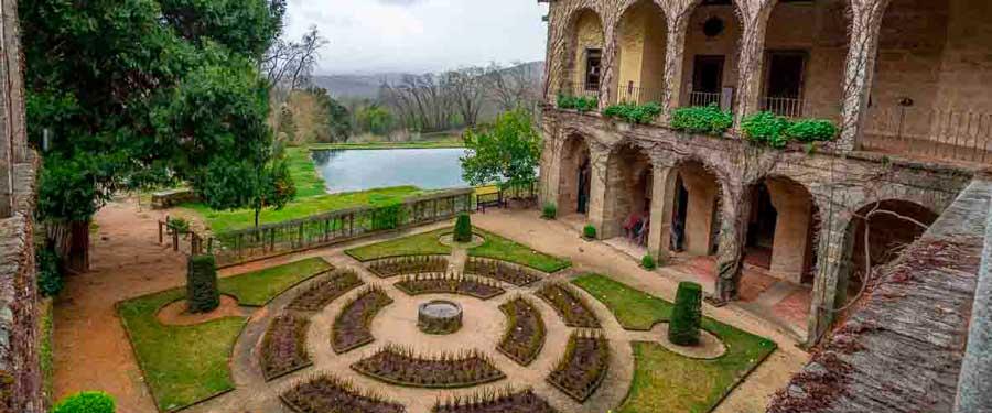 Jardines en el Monasterio de Yuste.